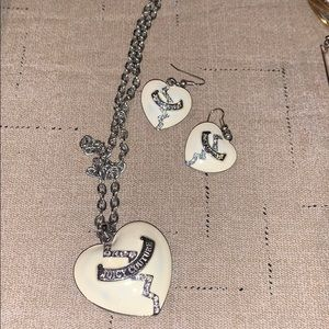 Authentic juicy couture necklace and earring set